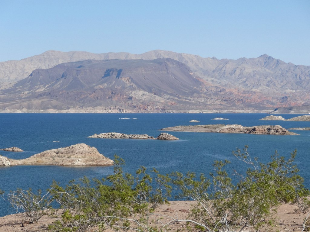 Caption: Lake Mead is just 20 minutes outside Vegas. It's a great place to go kayaking or swimming. Credit: Reannon Muth.