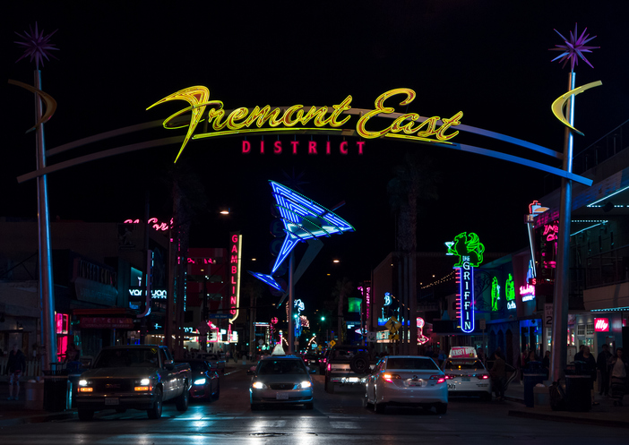 Fremont East District Entrance and Lights