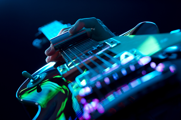 Guitarist Playing Slide Guitar