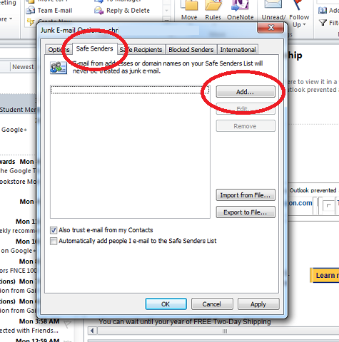 How to Set Your Spam Filter - Outlook
