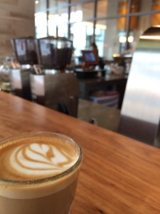 A cortado at Houndstooth's newer downtown location. Photo by me.