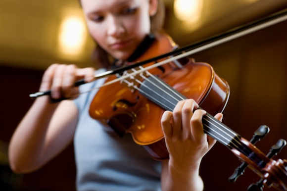 Teenage Girl Playing Violin