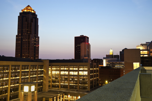 Des Moines, IA is one of four state capitals in the top ten metros for gender pay gap advancement.
