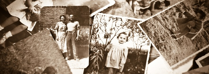 Vintage Family Black and White Photos