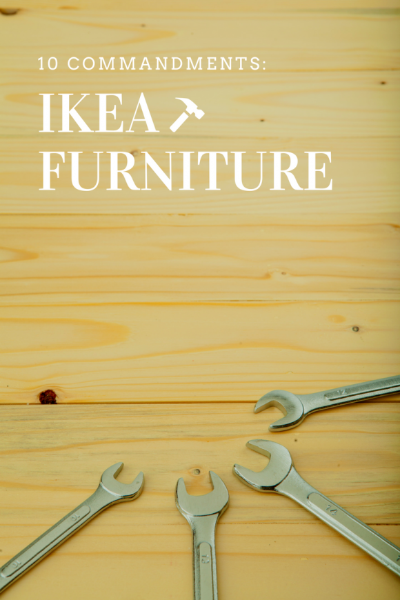 IKEA DIY: ready to assemble furniture