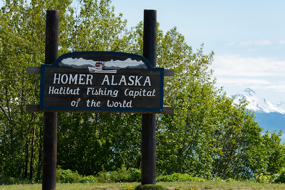 Homer Welcome Sign