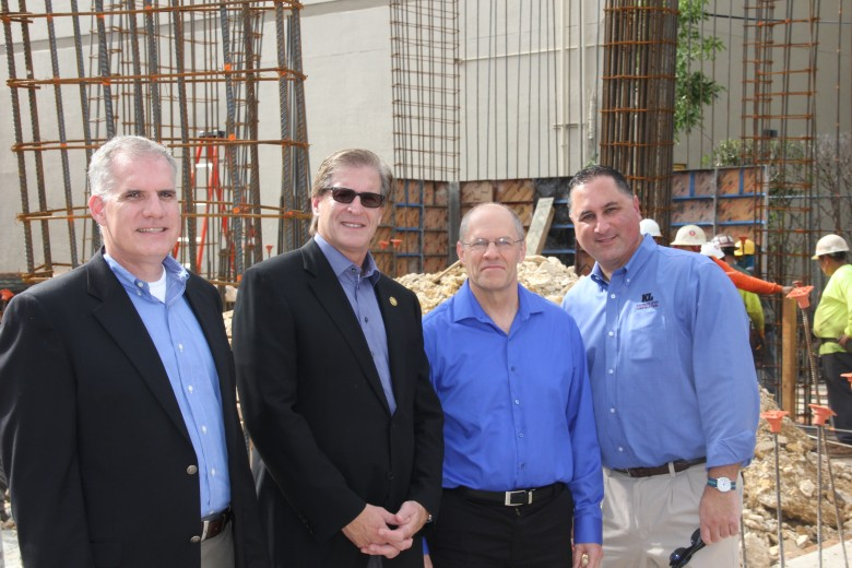 From left to right: Ben Baffer of Kaufman Lynn Construction, Jay Massirman of MCSS, Steve McBride of MCSS and Neil Carson of Kaufman Lynn Construction