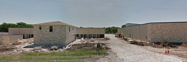 A Google Street View image of AAA latest Texas facility in progress.