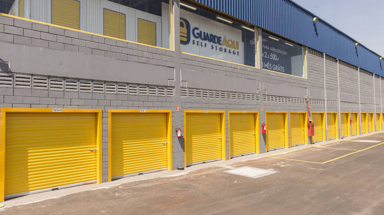 Self-storage facilities, like this one by GuardeAqui, are gradually becoming more common place in Brazil.