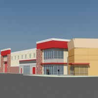 A preliminary rending of All Storage's planned facility in Aledo, TX.