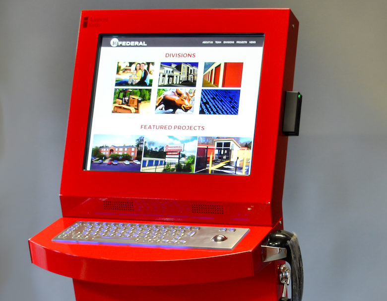 Customers can rent a storage unit using an Advanced Kiosk interface.