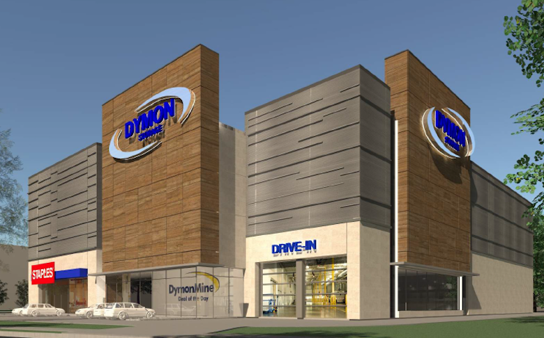 A rendering of a Dymon Storage facility in Toronto.