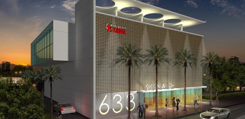 A rendering of SoBe Wine & Self Storage in Miami