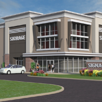A rendering of one of TD Self Storage's initial projects in Greenville, SC